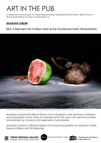 Art in the Pub - Marian Drew Monday 3rd September 2018. 6pm for a 6.30pm start