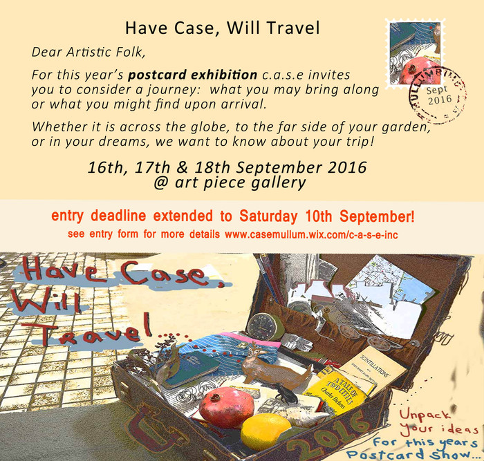 Launch of 2016 Postcard Show Update #2 - Call for Entries - deadline extended to 10th September