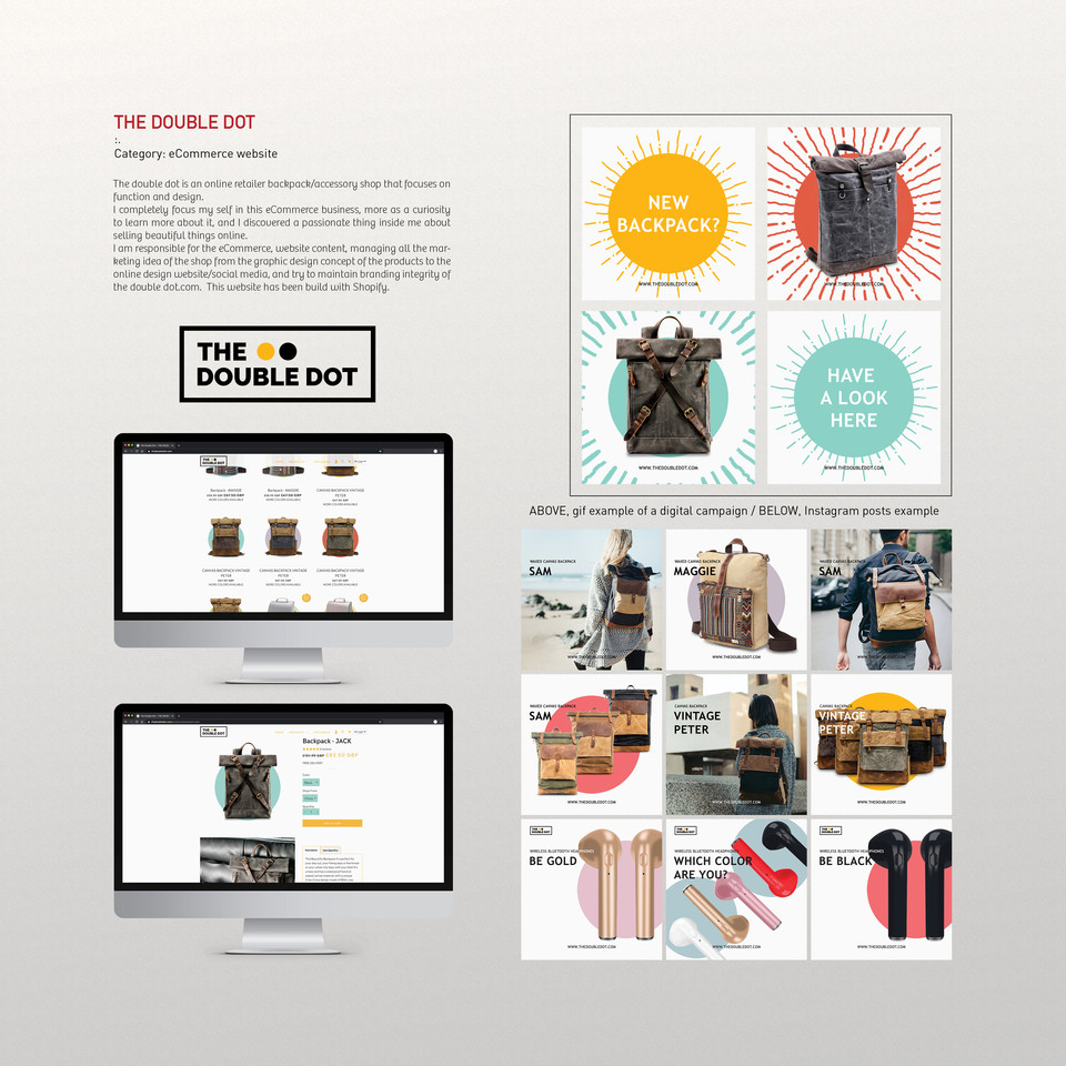 THE DOUBLE DOT - eCommerce website