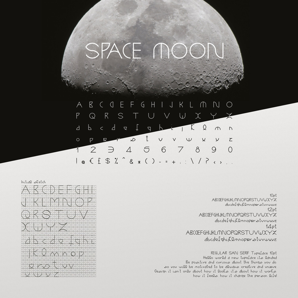 SPACE MOON - Typeface