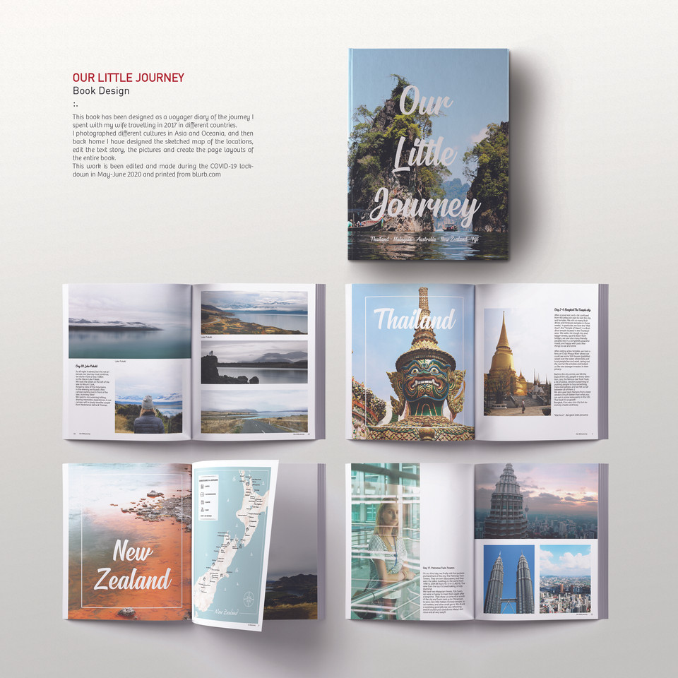 OUR LITTLE JOURNEY - Book Design