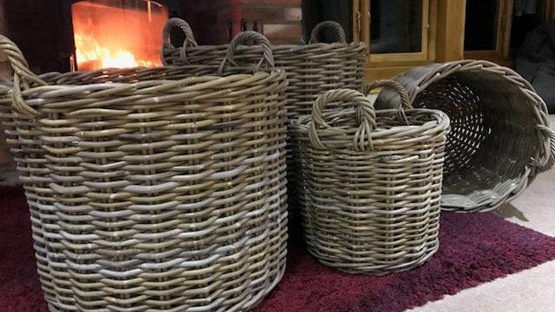 Handmade Quality Round Rattan Wicker Baskets