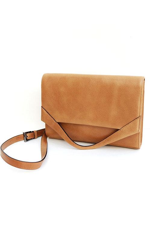 Paper Bag Wallet Cognac