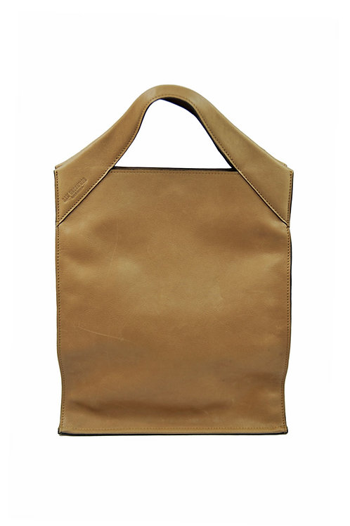 Paper Bag Classic Leather Camel