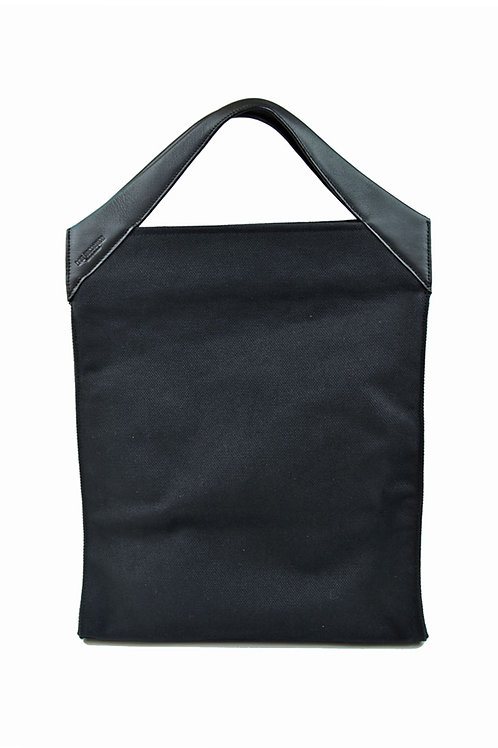 Paper Bag Oversized Tote Black