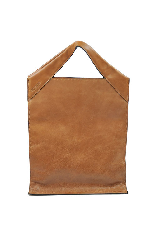 Paper Bag Classic Leather Cognac