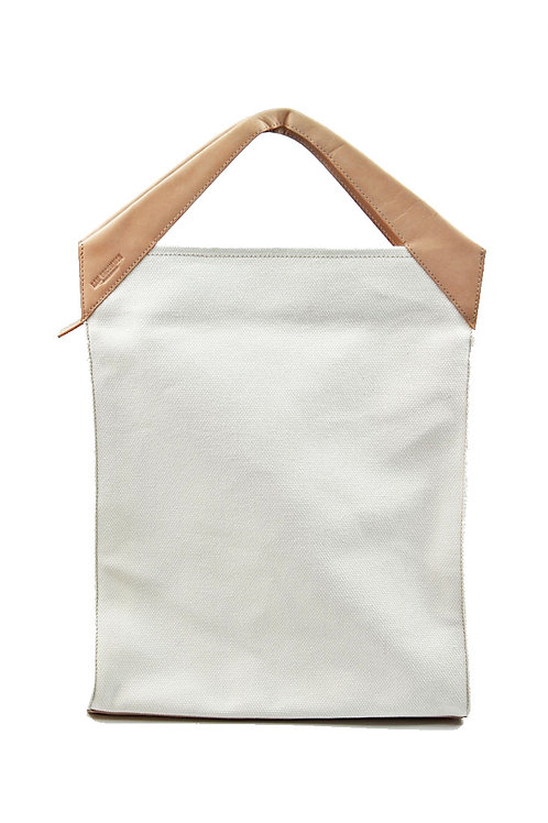 Paper Bag Oversized Tote Cream