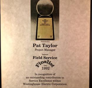 HP Service Award