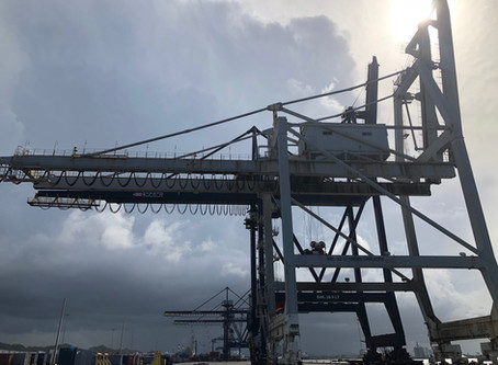 180 FT CONTAINER CRANE TO BE CUT, BLASTED AND PULLED IN RARE TOPPLING EVENT