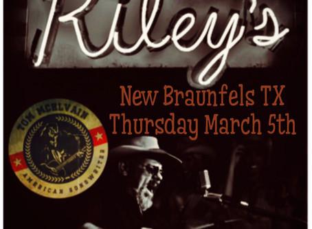Riley's Tavern Thursday night!