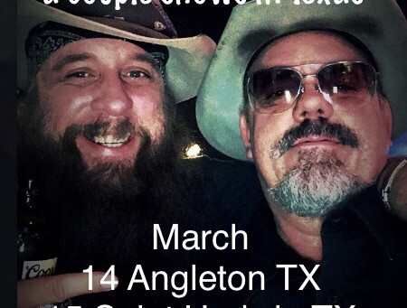 Tom McELvain joins Dallas Moore on Texas run in March!