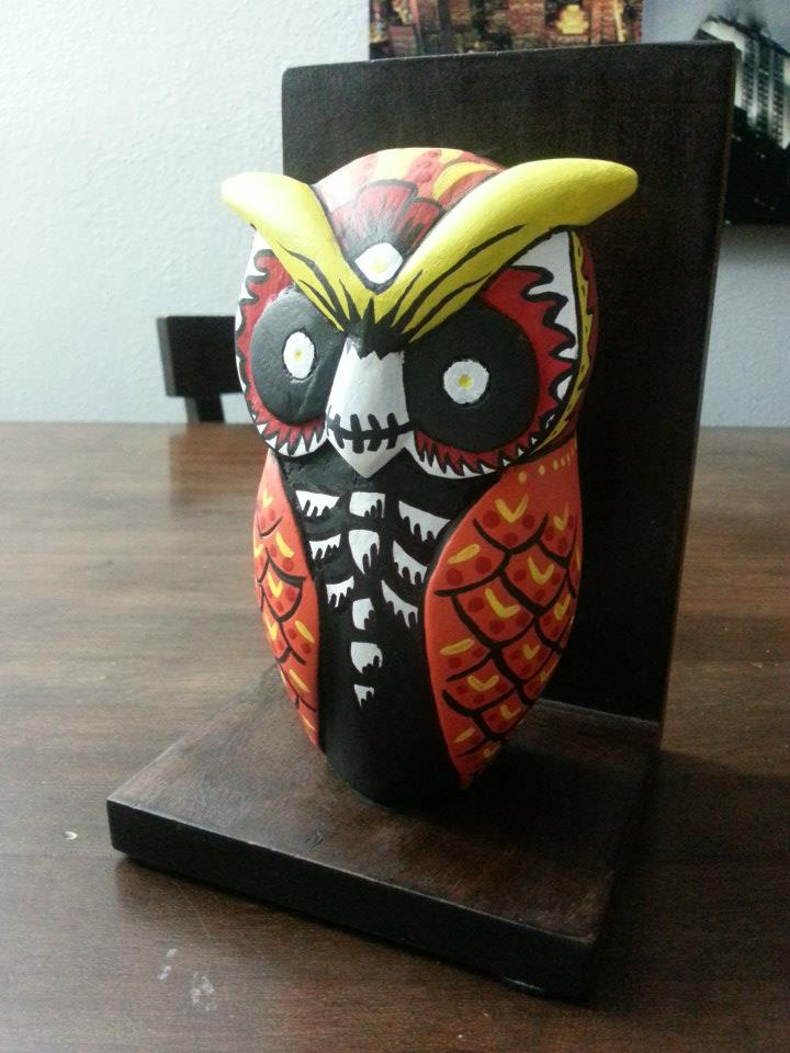 Muertos Owl Bookends.jpg
