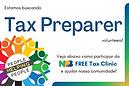 Seja um voluntário na nossa primeira Tax Clinic!!