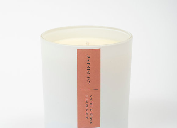 Patsie & Co   Natural Candle   Sweet Orange & Cardamom