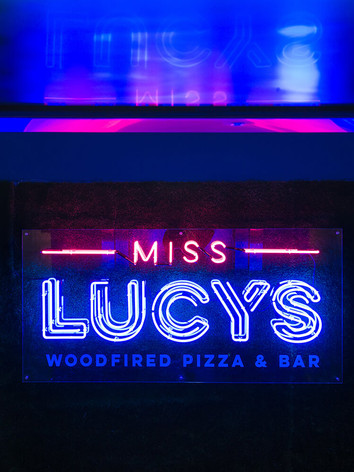 Neon entrance Miss Lucy's