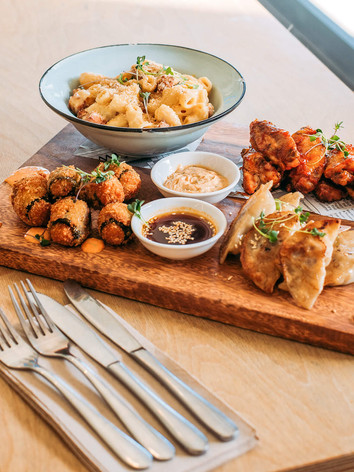 Sharing platter at Miss Lucy's