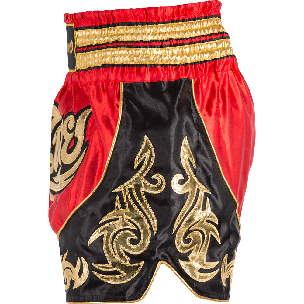 Badbreed-Predator-Thai-Shorts-Black-Red-Side