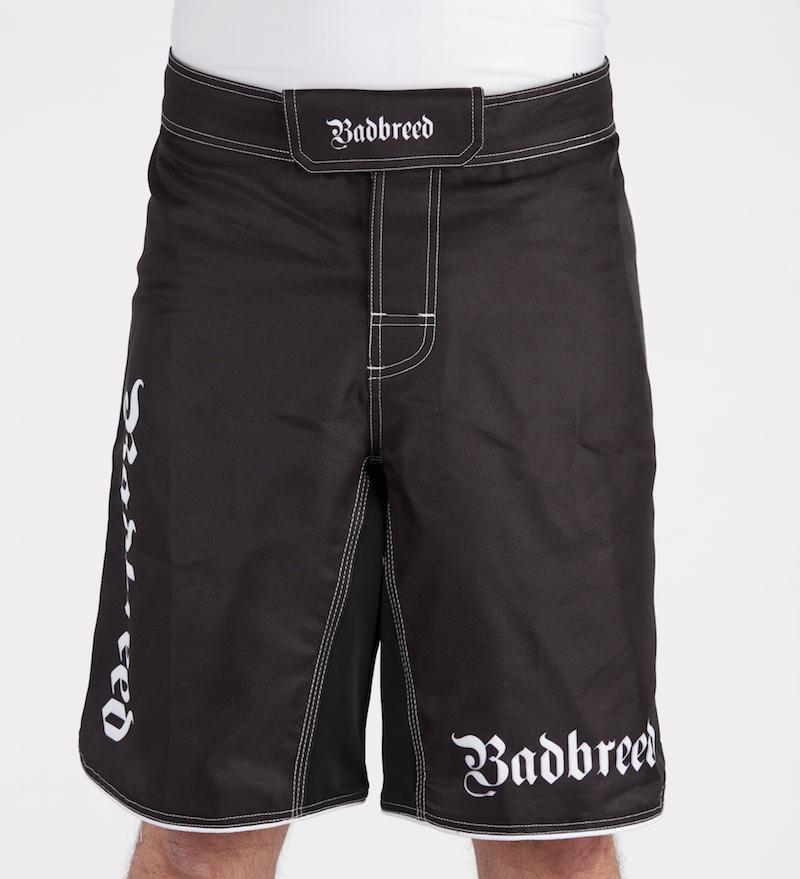 Badbreed-MMA-Shorts-Black-Front