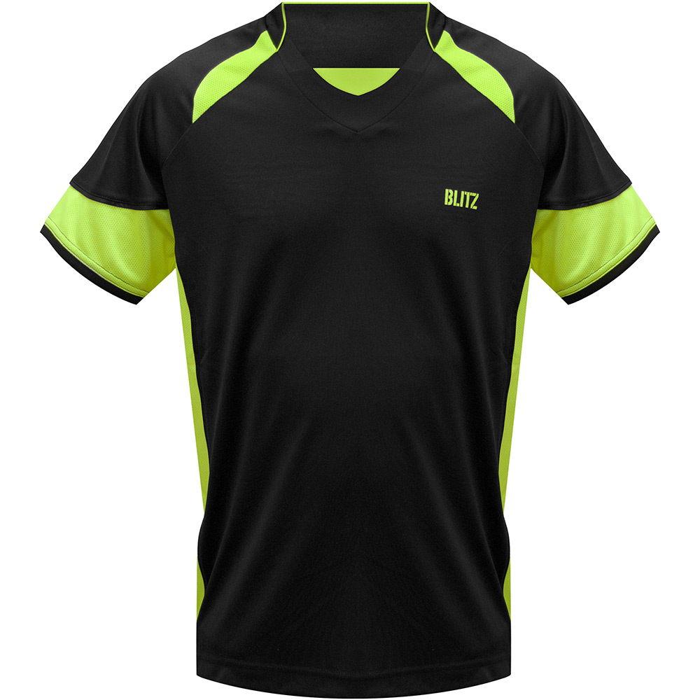 Blitz-XpertDry-T-Shirt-Black-Neon-Yellow