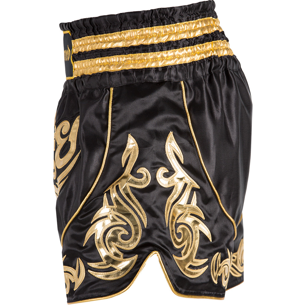 Badbreed-Predator-Thai-Shorts-Black-Gold-Side