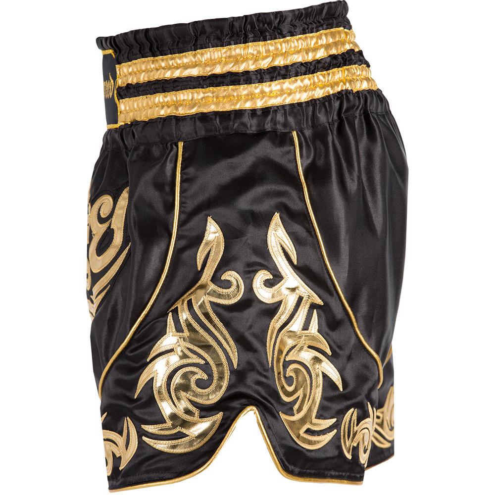 Badbreed-Predator-Thai-Shorts-Black-Gold-Side