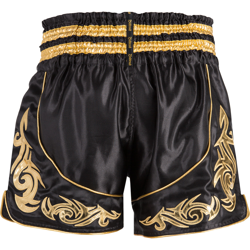 Badbreed-Predator-Thai-Shorts-Black-Gold-Back