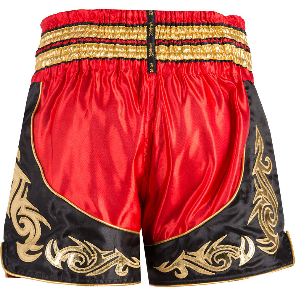 Badbreed-Predator-Thai-Shorts-Black-Red-Back