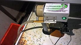Oil skimmer installed on Haas CNC machine