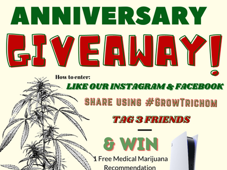 April 9th will mark 2 years for Trichom Health! Like our social media to receive a chance to WIN!