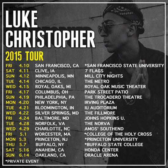 Catch Wreckineyez on the TMRWTMRW Tour with Luke Christopher (shows with Big Sean, Future, and Kid I