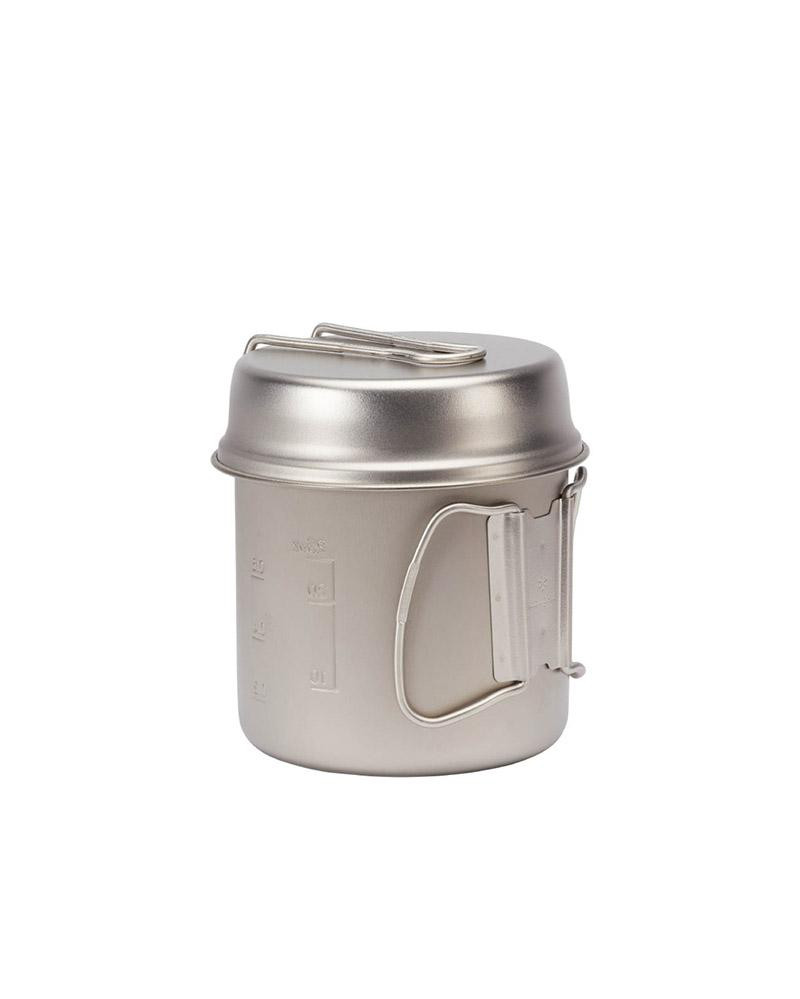 Silver camping cooking set