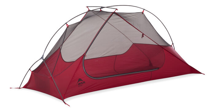 Picture of a red tent, FreeLite 2 by MSR