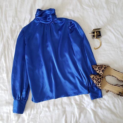 Blusa Azul Vintage