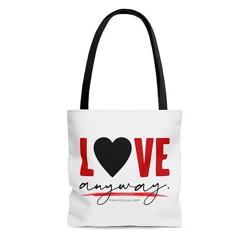 Love Anyway AOP Tote Bag