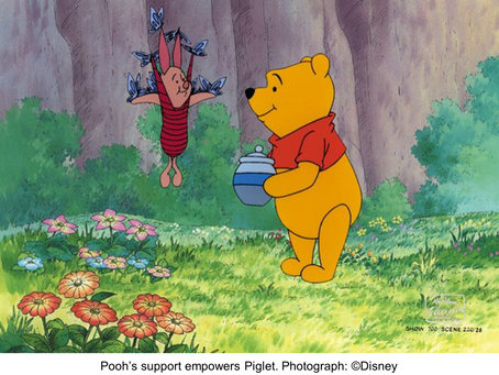 Winnie the Pooh; a support worker too?