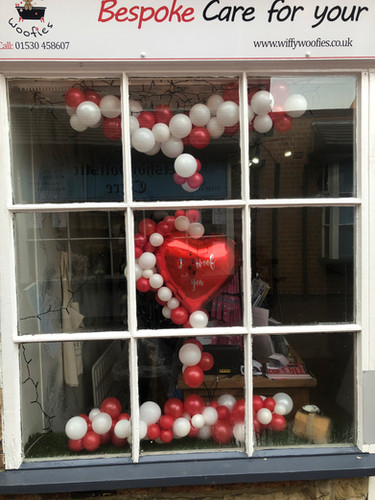 Professional Shop Window Balloon Decor
