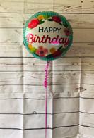 "Flowery Happy Birthday 18"" Foil"