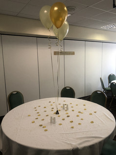 Golden Wedding Anniversary Balloon Decor