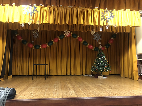Village Hall Christmas Garland