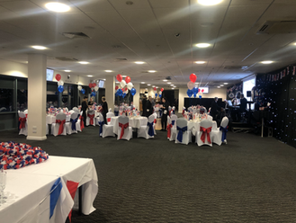 Red, White & Blue Themed 90th Birthday C