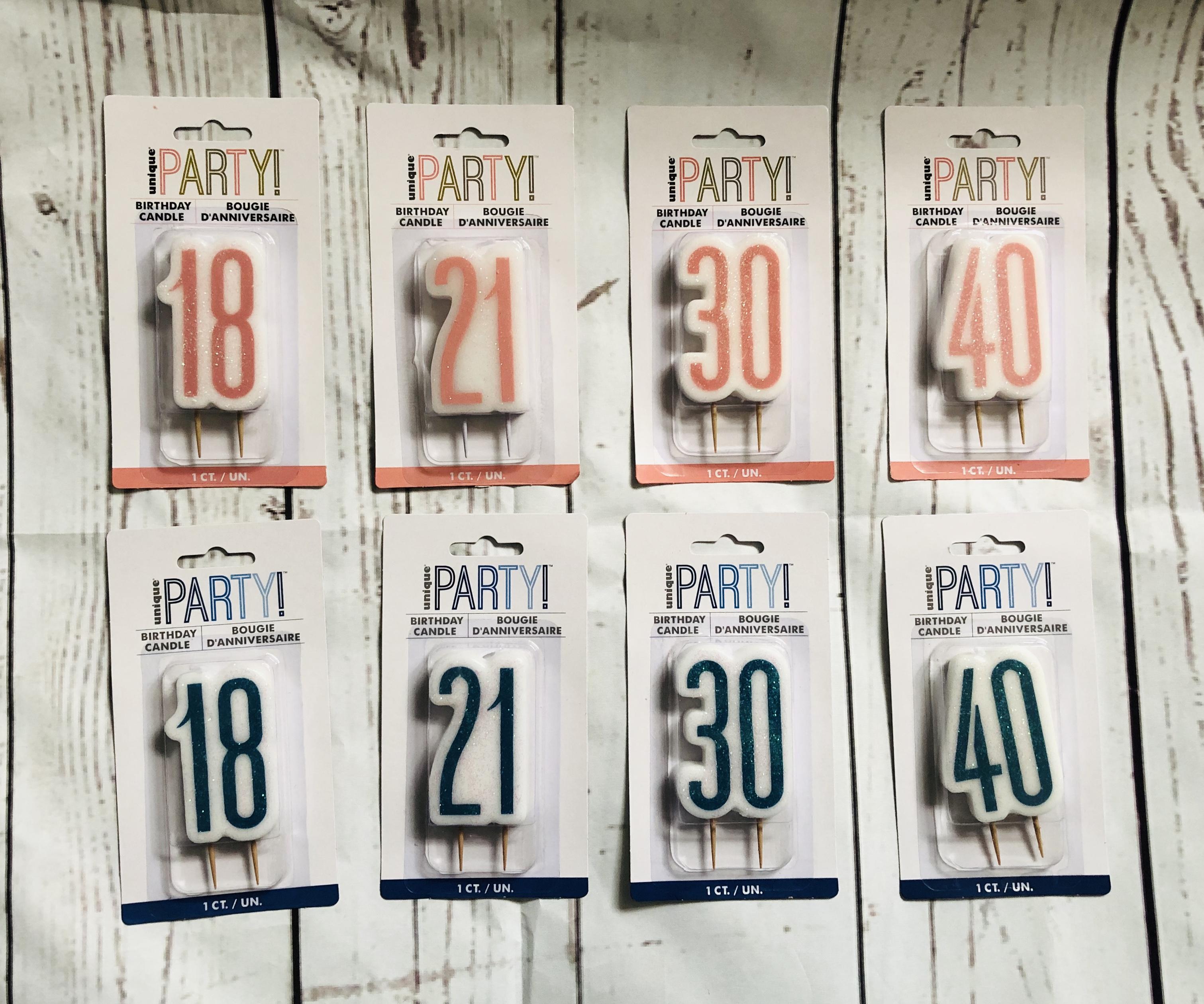 Milestone Age Birthday Candles
