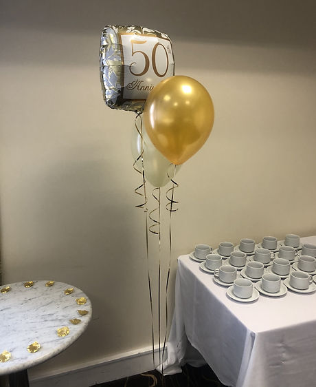 Golden Wedding Anniversary Balloons