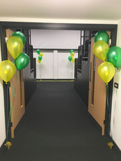 Sixth Form College Balloon Decor