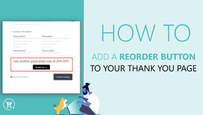Add reorder button to your Shopify thank you page using ReConvert