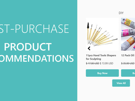 Add product recommendations to your thank you page