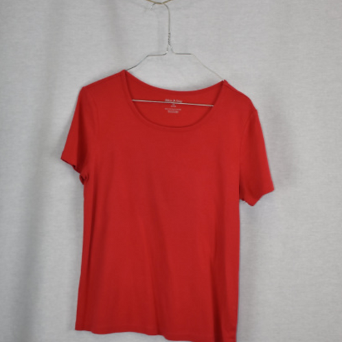 Girls Short Sleeve Shirt, Size M (8-10)