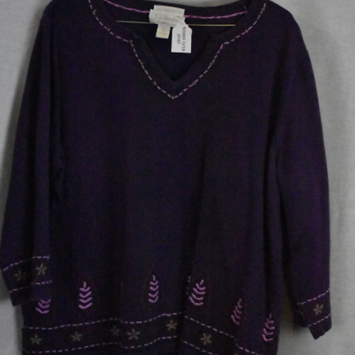 Womens Long Sleeve Shirt, Size 1X