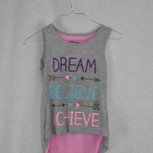 Girls Short Sleeve Shirt, Size M (7/8)