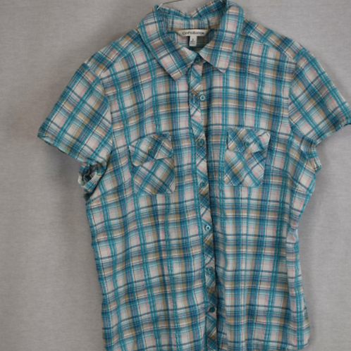 Girls Short Sleeve Shirt, Size L