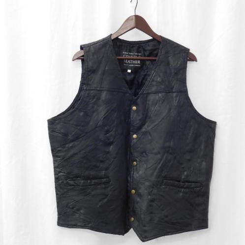 Mens Leather Vest, Size XXL